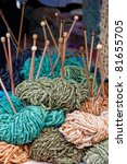 Selection Of Colored Wool With...