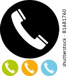 telephone receiver vector icon | Shutterstock .eps vector #81681760