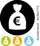money   euro currency sign... | Shutterstock .eps vector #81681772
