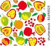 fruit seamless pattern | Shutterstock .eps vector #81690025