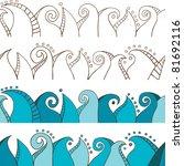 doodle seamless border | Shutterstock .eps vector #81692116