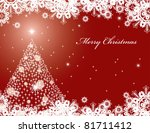 christmas background. | Shutterstock . vector #81711412