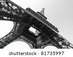 eiffel tower  paris. black and...   Shutterstock . vector #81735997