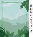 jungle themed background | Shutterstock .eps vector #81755218
