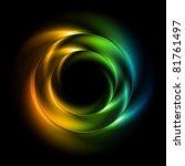 abstract iridescent vector... | Shutterstock .eps vector #81761497