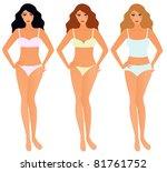 three kinds of women in...   Shutterstock .eps vector #81761752