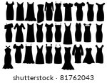 set of woman little black... | Shutterstock .eps vector #81762043