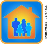 family in the house. parents... | Shutterstock .eps vector #81764566