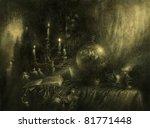 occult still life. acrilic on... | Shutterstock . vector #81771448