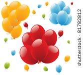 colour holiday balloons... | Shutterstock .eps vector #81782812