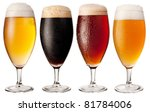 Glasses Of Beer Isolated On A...