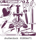 knife collection | Shutterstock .eps vector #81806671
