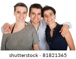 happy smiling brother and his... | Shutterstock . vector #81821365
