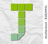 letter x  from squares and...   Shutterstock .eps vector #81824941