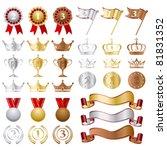 gold silver bronze awards set.... | Shutterstock .eps vector #81831352