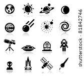 asteroide,astronauta,astronáutica,astronomía,negro,agujero negro,colección,cosmos,descubrimiento,tierra,futurista,iconos,ilustración,aislado,misil