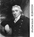 Edward Jenner (1749-1823). Engraved by E.Scriven and published in The Gallery Of Portraits With Memoirs encyclopedia, United Kingdom, 1837. - stock photo