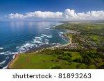 Waialua Bay And Haleiwa  Oahu...