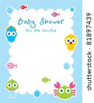 baby ocean shower card | Shutterstock .eps vector #81897439