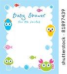 baby ocean shower card | Shutterstock .eps vector #81897439