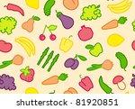 seamless fruit vegetable... | Shutterstock .eps vector #81920851