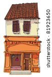 vintage facade | Shutterstock .eps vector #81923650