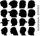 Face Portrait Vector  Men ...