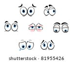 set of cartoon funny eyes for... | Shutterstock .eps vector #81955426