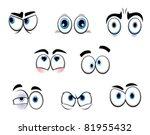 set of cartoon funny eyes for... | Shutterstock .eps vector #81955432