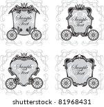 set invitation design with... | Shutterstock .eps vector #81968431