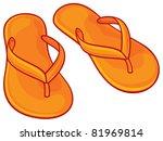 orange flip flops | Shutterstock .eps vector #81969814