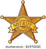 Vector sheriff's shield (Sheriff badge )