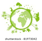 green and clean ecology earth... | Shutterstock .eps vector #81973042