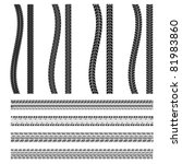 various automobile tyre   Shutterstock .eps vector #81983860