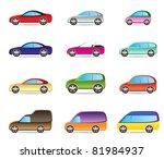 popular types of cars   vector... | Shutterstock .eps vector #81984937
