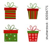 christmas presents collection.... | Shutterstock .eps vector #82036771