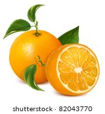 vector fresh ripe oranges with... | Shutterstock .eps vector #82043770
