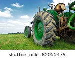 Old Green Tractor In The Field...