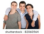 happy smiling brother and his... | Shutterstock . vector #82060564