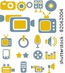 media icons  signs  vector... | Shutterstock .eps vector #82062004