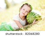 cute little girl with... | Shutterstock . vector #82068280