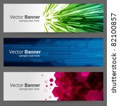abstract trendy vector banner... | Shutterstock .eps vector #82100857