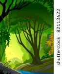 deep in the amazon forest | Shutterstock .eps vector #82113622
