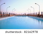 a big swimming pool in the... | Shutterstock . vector #82162978