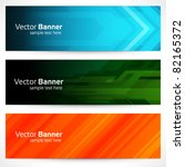 abstract trendy vector banner... | Shutterstock .eps vector #82165372
