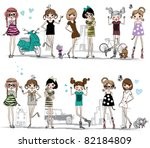 illustration vector teenage ... | Shutterstock .eps vector #82184809