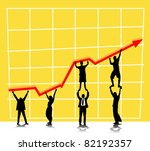 profit and commerce chart with... | Shutterstock .eps vector #82192357