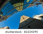 town panorama - stock photo