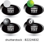 tennis ball  golf ball  bowling ... | Shutterstock .eps vector #82224832