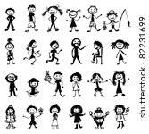 Set Of 24 Drawing People's For...